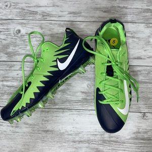 Nike Alpha Menace Cleats Blue / Green NEW 15 , 16